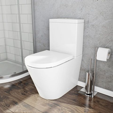 Demar close coupled toilet with soft close toilet seat | VictoriaPlum.com