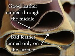A great explanation of leather quality and types (and what to look for when you are buying leather)