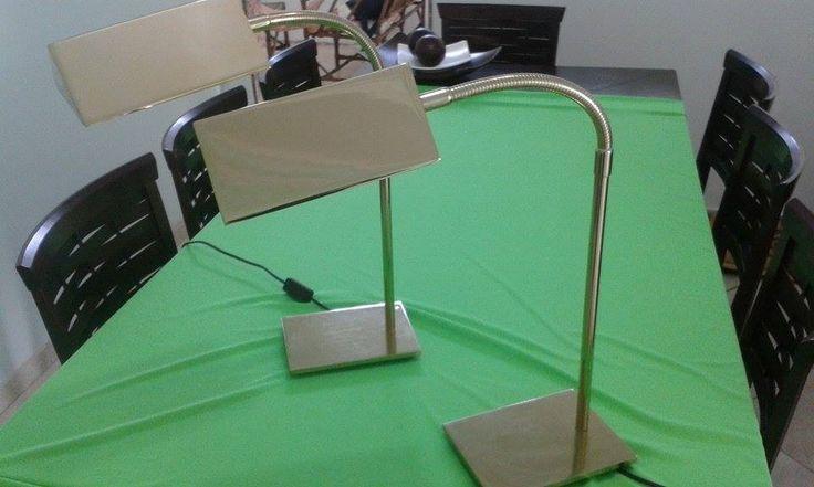 Abajur Luminaria Dourada - Usada (o Par) - R$ 350,00 no MercadoLivre