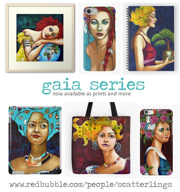 Scatterlings Blog - art by Renee Walden: gaia series now available as prints and more