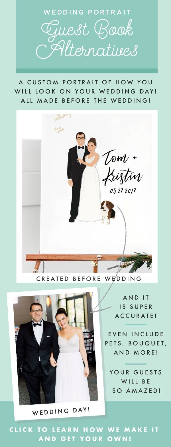 How The Heck Do They Do That Miss Design Berry Created Amazing Guest Book Alternative Wedding Portrait Guest Book Wedding Guest Book Unique Wedding Guest Book [ 1563 x 600 Pixel ]