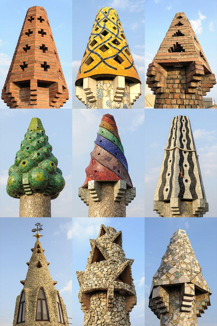 Antoni Gaudí - mosaico chimenea