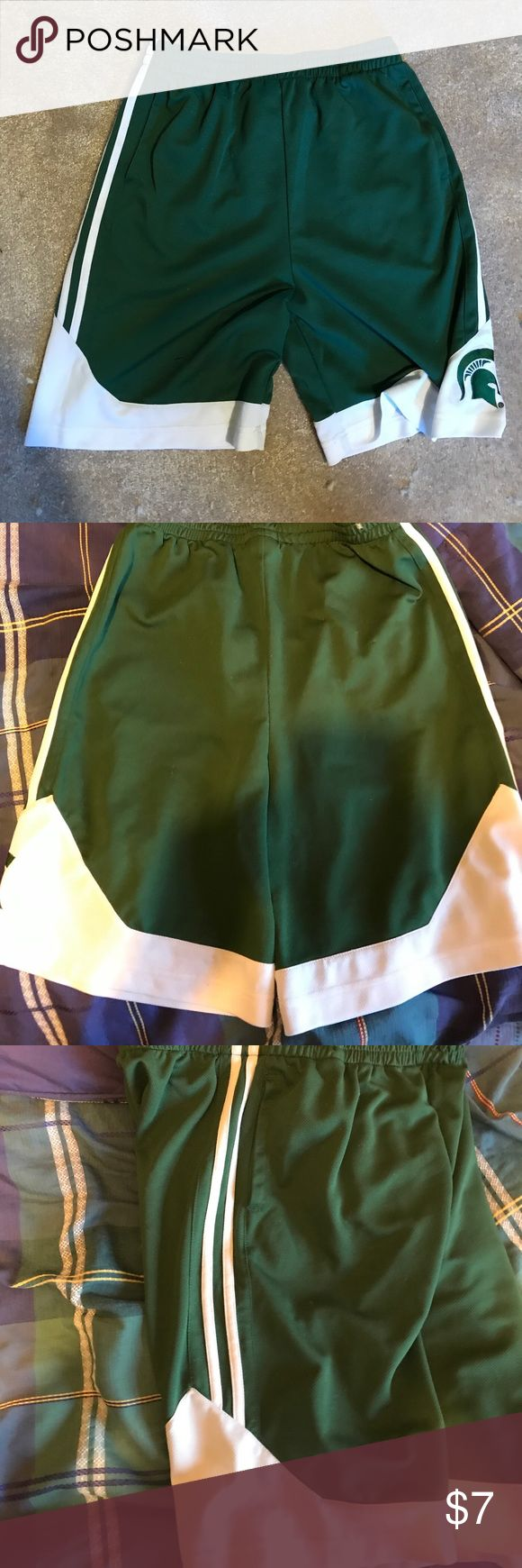 Michigan State Basketball Shorts Loved these shorts to wear to the gym Outerstuff Shorts Athletic