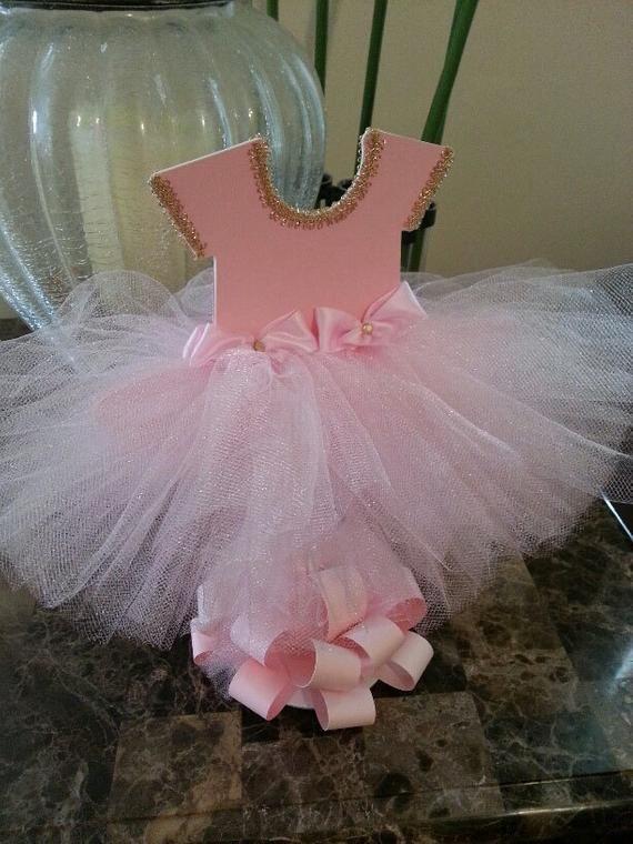 a478eeb1d625 Double Sided Pink TuTu Dress Centerpiece (Gold)   Ballerina Baby ...