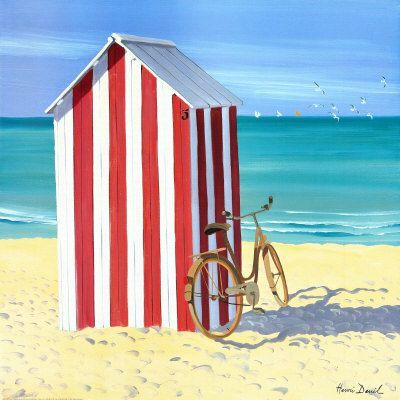 Candy Striped Beach Shack Print