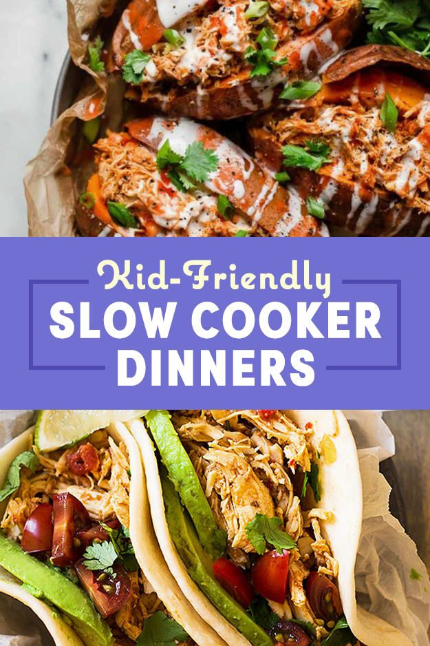14 Kid Friendly Slow Cooker Dinners Even Adults Will Love Slow Cooker Dinner Healthy Slow Cooker Slow Cooker Recipes Healthy