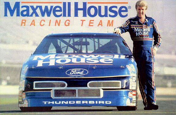 1991 #22 Maxwell House / Ford Thunderbird driver Sterling Marlin. Would Jeff Gordon have been in the Maxwell House machine?