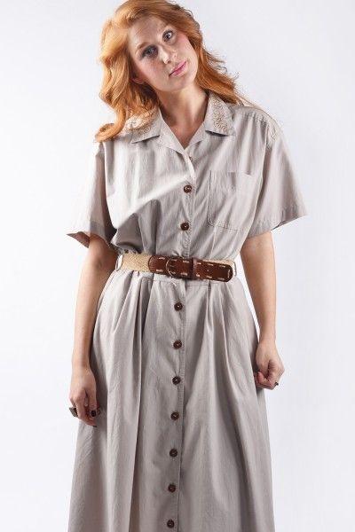 Vintage blouse jurk uit de jaren 80