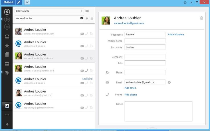 Business Boost: The Mailbird Contacts Manager - Mailbird - Best Email Software for Windows 8, 7 and XP