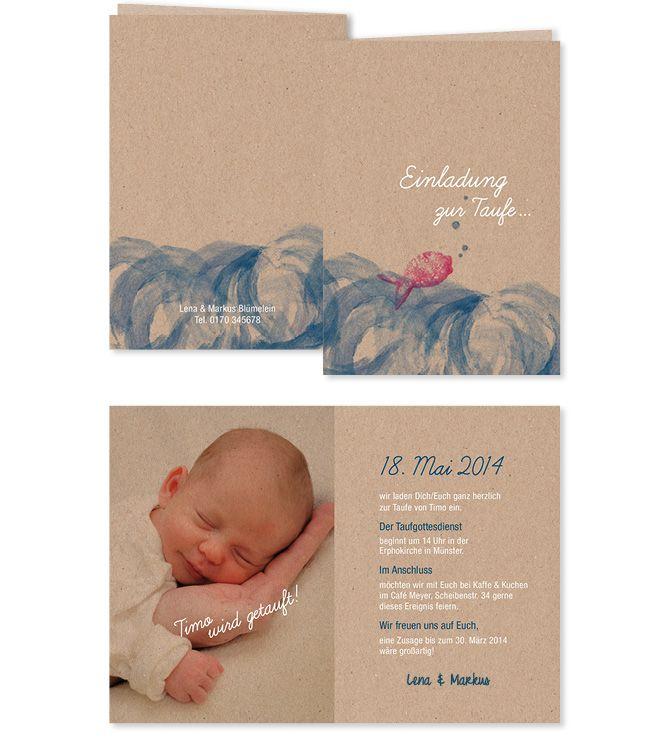 Einladung zur Taufe / Mehr auf http://www.insachenpapier.de