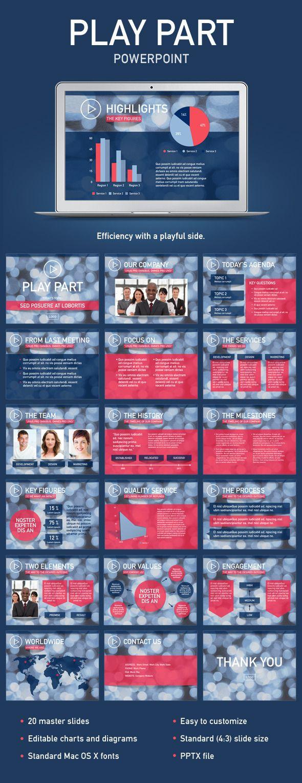 Play Part PowerPoint Template #design Download: http://graphicriver.net/item/play-part-powerpoint-template/12054241?ref=ksioks