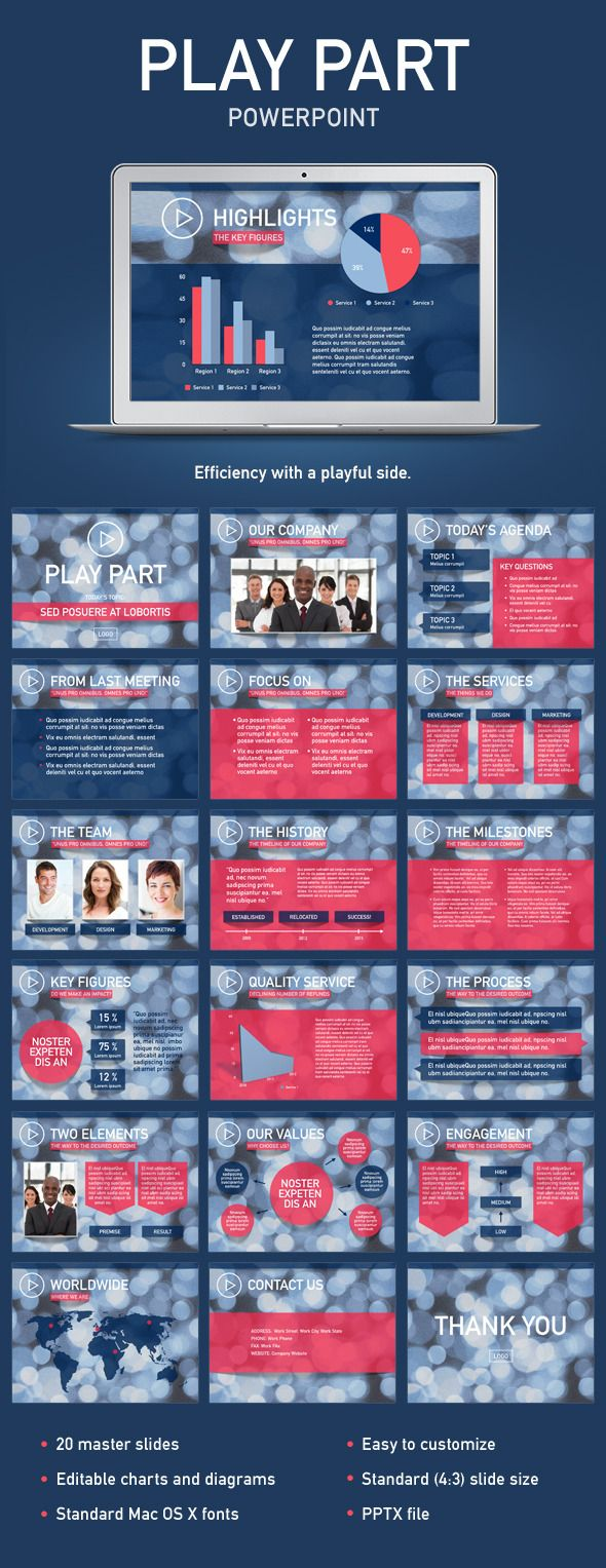 Play Part PowerPoint Template #design Download: http://graphicriver.net/item/play-part-powerpoint-template/12054241?ref=ksioks