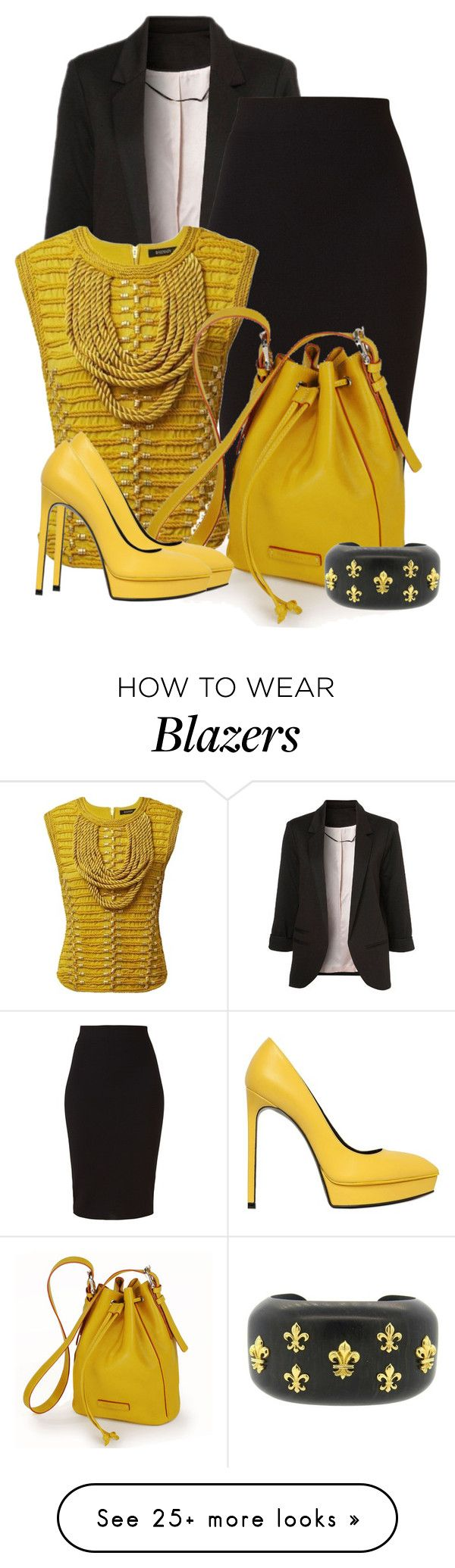 """Easy and Real"" by ljbminime on Polyvore featuring WithChic, Winser London, Balmain, Yves Saint Laurent, Trianon, women's clothing, women's fashion, women, female and woman"