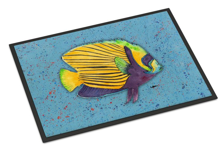 Tropical Fish on Blue Indoor or Outdoor Mat 24x36