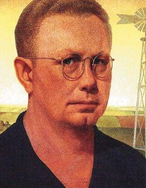 Self Portrait, Grant Wood                    February 13, 1891 – February 12, 1942
