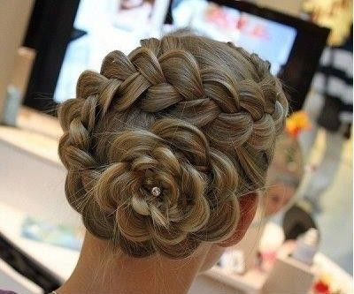 flower braid - or maybe this is bride hair?