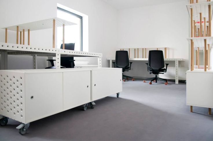 3+ SYSTEM AT BARBARA, WROCŁAW BARBARA: new design space zieta.pl/barbara All arrangements are based on 3+ collection - new. modular furniture system designed by Oskar Zieta. 3+ is innovative technology for stabilising sheet-metal, in the form of our furniture collection 3+. It's a modular solution reflecting today's nomadic and mobile lifestyle. Thanks to set of connectors every stabilizing perforation can be used as starting point for creating a new construction.
