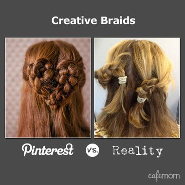 Love it Pinterest ve reality! 19 creative fun photos! #love Creative Braids