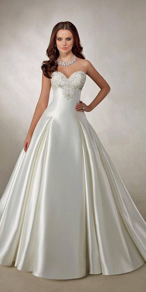 Wedding Ball Gowns By Ameli Sposa And Ronald Joyce ❤ See more: http://www.weddingforward.com/wedding-ball-gowns/ #weddings