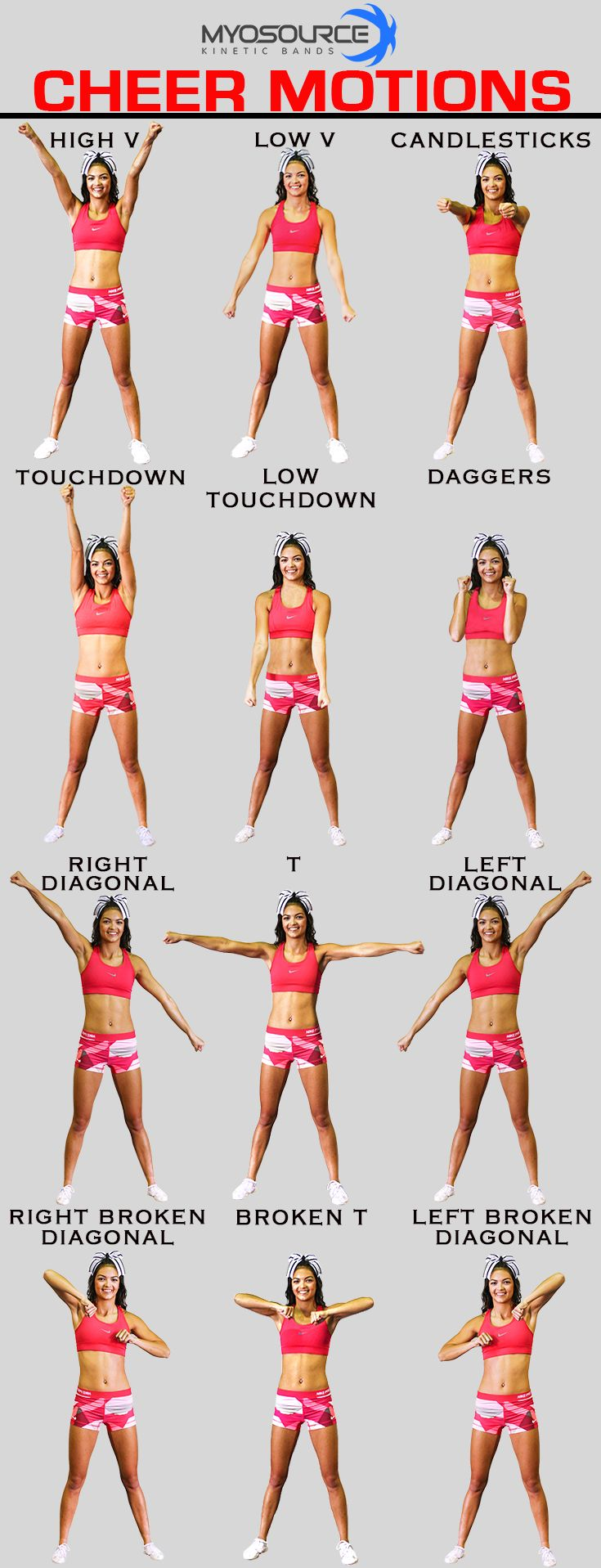 Cheerleading Tips: Practice your motions for cheerleading tryouts and use coupon code PINIT15 for 15% off cheerleading equipment to improve jumps, flexibility and tumbling.