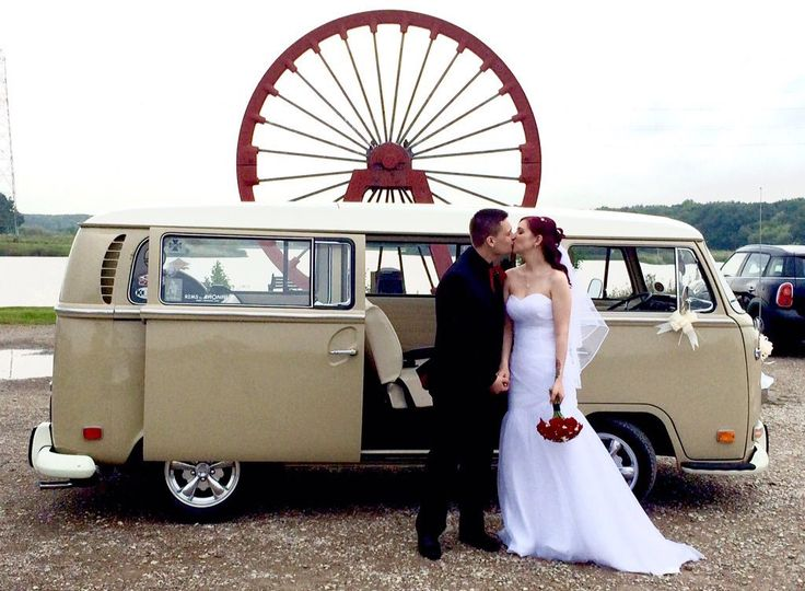 Congratulations to Chrissie and David, married at Morpeth Town Hall and celebrating in Ashington. www.vwdeluxeweddings.co.uk Chauffeur driven VW Campervan for weddings in Northumberland, Tyne and Wear, and Durham.
