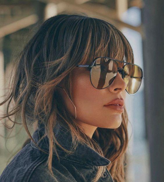 20 Cheveux inspirés: les coiffures parfaites avec une frange 2019 cheveux popul…