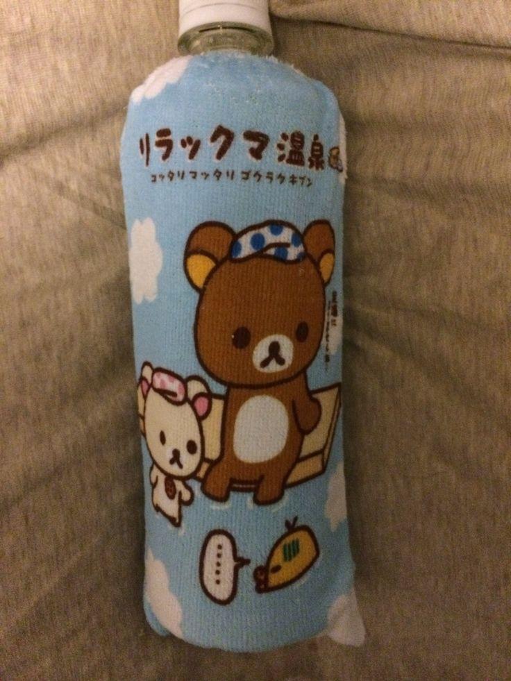 コンビニのお〜いお茶、リラクマのペットボトル・カバーの新種類。温泉編。