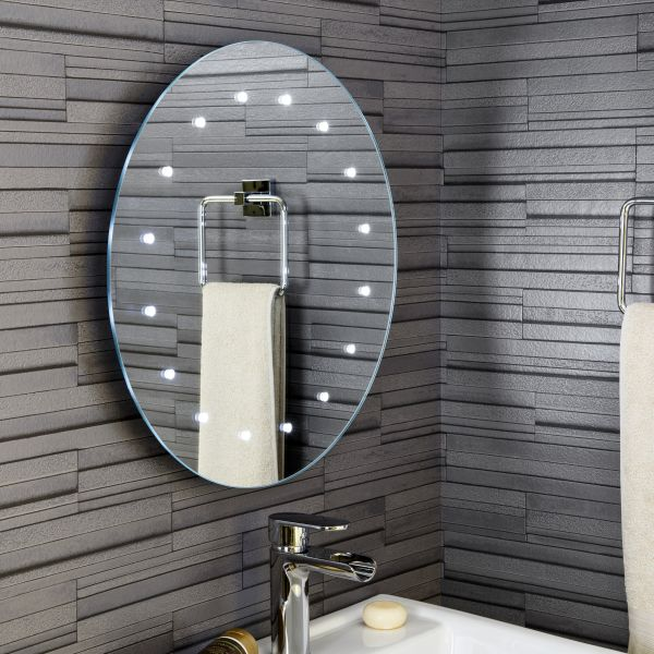 Ceramica Mirror with Battery Powered LED Lights