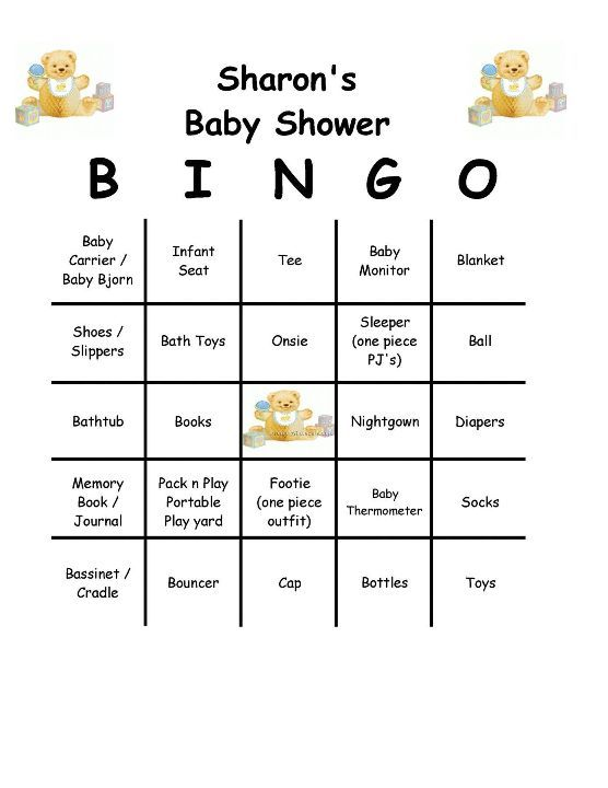 bingo baby shower game baby shower games pinterest