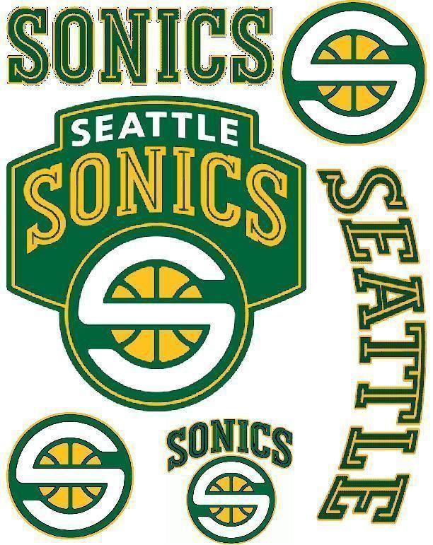 SEATTLE SUPER SONICS Basketball sticker decal logo sports game