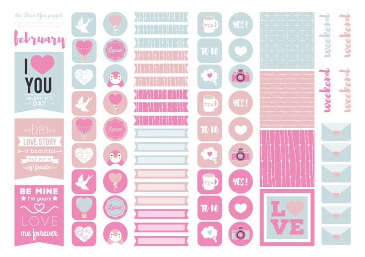 STICKERS FREEBIES 02 | the Dear You project