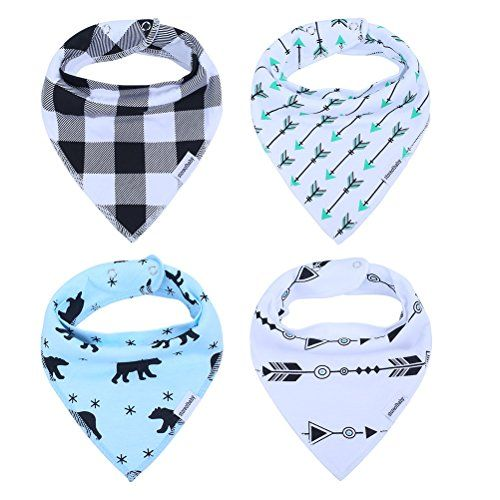 Cute Bandana Bibs for Babies Boys' Teething, Feeding and Drooling, Cool Baby Gifts Set, 100% Organic Cotton. For product info go to: https://all4babies.co.business/cute-bandana-bibs-for-babies-boys-teething-feeding-and-drooling-cool-baby-gifts-set-100-organic-cotton/