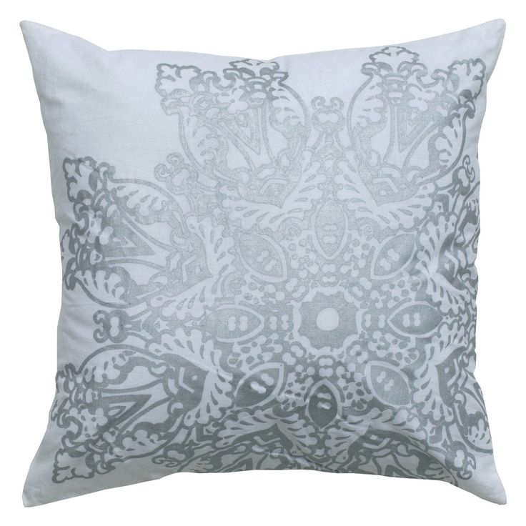 Have to have it. Rizzy Home Medallion Metallic Print Decorative Throw Pillow - $26.99 @hayneedle