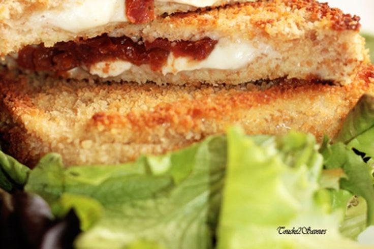Croque pané tomate mozzarella