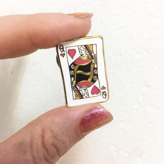Queen of hearts enamel pin by rosiewonders on Etsy