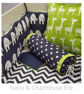 If you're looking for an #AfricanTheme for your nursery, in #Navy and #Chartreuse, our #Elephant and #Giraffe fabrics are perfect for any #BabyBoy!   #BabyBedding #BabyLinen
