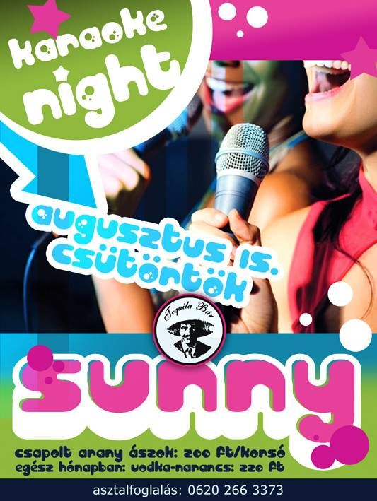sunny#karaoke#poster