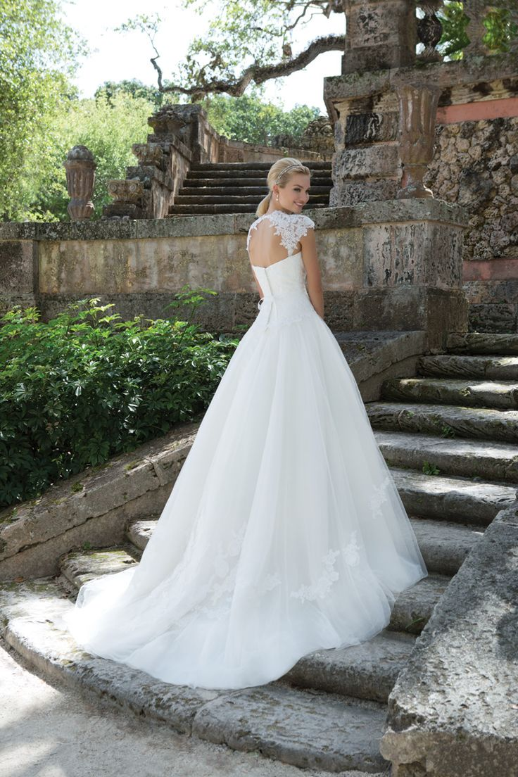 Queen Anne neckline ball gown - Sincerity Bridal Spring 2016 Wedding Dresses | itakeyou.co.uk #weddingdress: