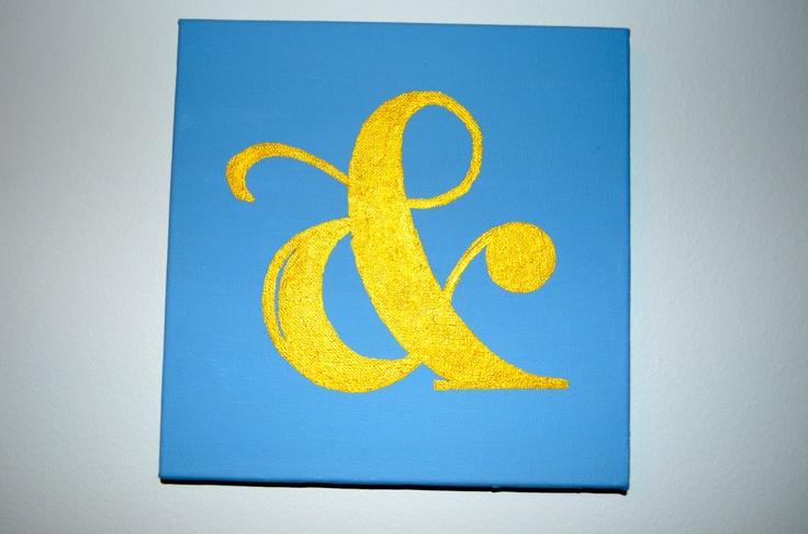 Gold ampersand art via etsy art pinterest for Ampersand decoration etsy