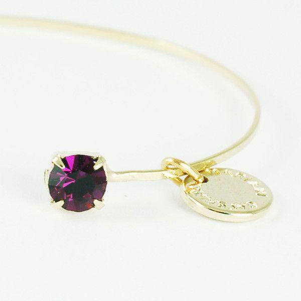 CATERINA MARIANI BIJOUX Swarovski Amethyst Bracelet | La Luce http://shoplaluce.com/collections/caterina-mariani-bijoux/products/caterina-mariani-bijoux-swarovski-amethyst