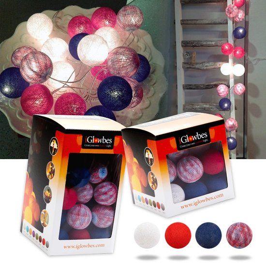 bol.com | Lichtslinger - iGlowbes - 50 Lichtslinger - Sfeerverlichting - Holland- rood, wit,blauw...