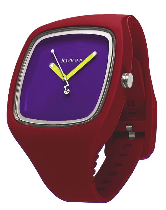 IOION BIG in Crimson Red  http://www.italcompany-ioion.nl/ioion-big-horloge-van-io-ion-crimson-red-ionwat312.html