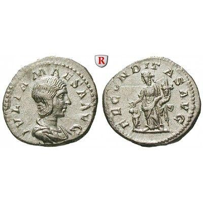 Römische Kaiserzeit, Julia Maesa, Großmutter des Elagabal, Denar 218-220, vz-st: Julia Maesa, Großmutter des Elagabal +225. Denar 20… #coins