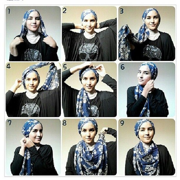 simple hijab tutorial by zahratuljannah