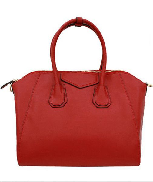 Real red Leather Handbags for Women's