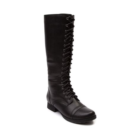 Shop for Womens Madden Girl Sadie Boot in Black at Journeys Shoes. Shop today for the hottest brands in mens shoes and womens shoes at Journeys.com.Battle against boring with the bodacious Sadie Boot from Madden Girl! The Sadie Boot boasts a military inspired combat boot silhouette with a synthetic leather upper, military inspired cap toe, and 18-eyelet lace up front closure! Available for shipment in October; pre-order yours today!Features include Synthetic leather upper Zipper from heel…