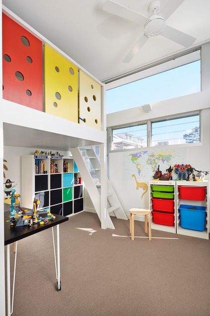 "Do you feel daunted at first peek in your children's rooms? Tame all that ""stuff"" with these ideas!"