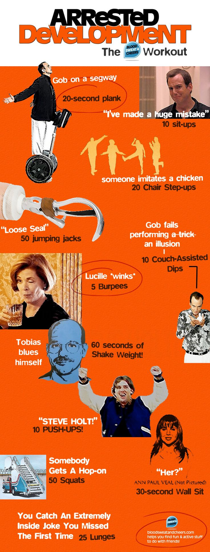 Arrested Development Workout - Make a series of huge mistakes and workout with Netflixs new/old series!