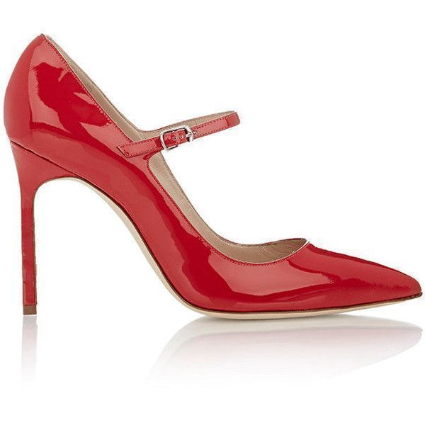 Manolo Blahnik Women's Brifa Mary-Jane Pumps ($299) ❤ liked on Polyvore featuring shoes, pumps, red, red high heel shoes, red mary jane pumps, red mary jane shoes, red patent pumps and red high heel pumps #manoloblahnikmaryjanes #manoloblahnikheelsstilettos