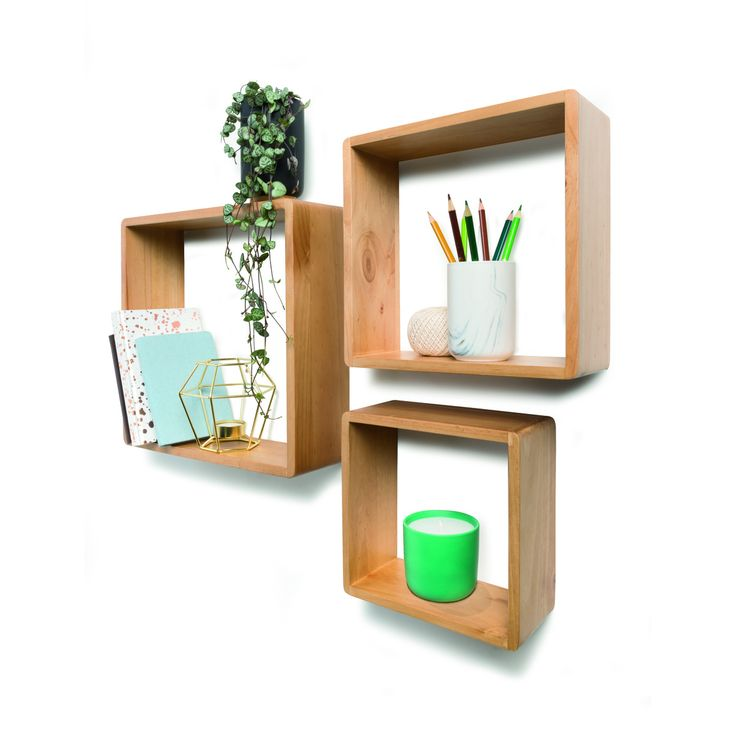 Square Wall Shelves - Set of 3 | Kmart